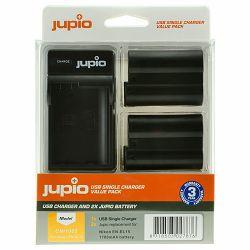 Jupio KIT 2x Battery EN-EL15 1700mAh + USB Single Charger komplet punjač i dvije baterije za Nikon D750, D500, D810, D610, D600, D7200, D7100, D7000, D800, D810A, D800E, 1 V1 CNI1002