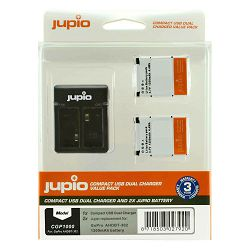 Jupio KIT 2x Battery GoPro AHDBT-302 HERO3+ 1200mAh + Compact USB Dual Charger komplet punjač i dvije baterije CGP1000