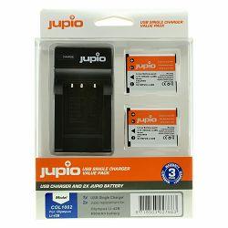 Jupio KIT 2x Battery Li-40B Li-42B NP45 D-Li63 EN-EL10 + USB Single Charger komplet punjač i dvije baterije za Olympus i Nikon COL1002