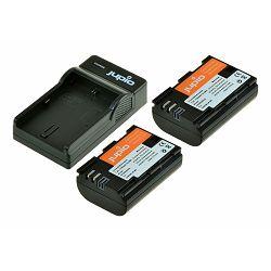 Jupio KIT 2x Battery LP-E6 1700mAh + USB Single Charger komplet punjač i dvije baterije za Canon 5D IV, 5D III, 7D II, 80D, 70D, 6D, 60D CCA1000