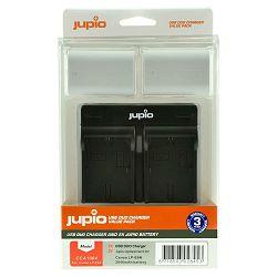Jupio KIT 2x Battery LP-E6N ULTRA 2040mAh + USB Dual Charger komplet punjač i dvije baterije za Canon EOS 5D IV, 5D III, 5Ds, 5DsR, 7D II, 6D, 80D, 70D, 60D, 7D (CCA1004)