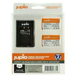 Jupio KIT 2x Battery NP-BX1 + Compact USB Dual Charger komplet punjač i dvije baterije za Sony Cyber-shot DSC-RX100 II, RX100 III, RX 100 IV, RX1, RX100, AS10, AS15, WX300, HX300, HX50V, RX1R CSO1000