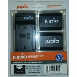 Jupio KIT 2x Battery NP-FZ100 2040mAh + USB Single Charger komplet punjač i dvije baterije za Sony a9, a7R III, a7 III (CSO1003)