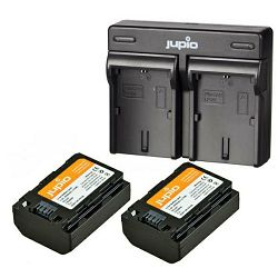 Jupio KIT 2x Battery NP-FZ100 2040mAh + USB Dual Charger komplet punjač i dvije baterije za Sony a9, a7R III, (CSO1004)