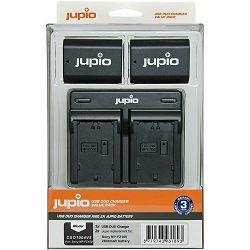 Jupio KIT 2x Battery NP-FZ100 2040mAh + USB Dual Charger komplet punjač i dvije baterije za Sony a9, a7R III, a7 III (CSO1004V3)