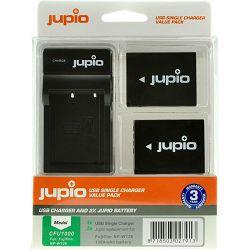 Jupio KIT 2x Battery NP-W126 + USB Single Charger komplet punjač i dvije baterije za Fujifilm FinePix T500, HS30EXR, HS33EXR, HS50EXR, X-Pro1, X-A1, X-A2, X-E1, X-E2, X-T1, X-T10 (CFU1000)