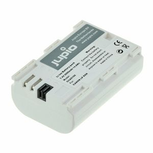 Jupio LP-E6 Ultra 2000mAh 7.2V baterija za Canon EOS 80D, 7D II, 5DsR, 5D III, 6D, 7D, 70D, 60D, 5D II, XC10, 5Ds, 60Da, LPE6, LP-E6 Lithium-Ion Battery Pack (CCA0101)