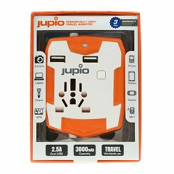 Jupio PowerVault 3000 Travel Adapter JTA0020 napajanje 3000mAh powerbank