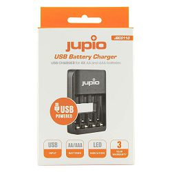 Jupio USB 4-slots Battery Charger LED punjač za 4xAA i AAA baterije (JBC0110)