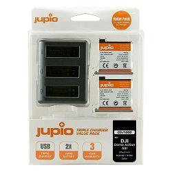 Jupio Value Pack 2x Battery DJI Osmo Action AB1 1220mAh + Compact USB Triple Charger baterija i punjač za dron (CDJ1000)