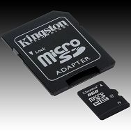 Memory ( flash cards ) KINGSTON NAND Flash Micro SD 4096MB x 1, 1pcs