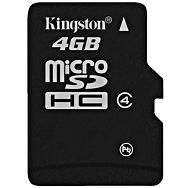 Memory ( flash cards ) KINGSTON NAND Flash Micro SDHC 4GB, 1pcs without adapter