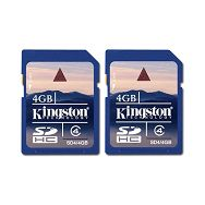 KINGSTON Memory ( flash cards ) 4GB Secure Digital High Capacity x 2 Class 4, 1pcs