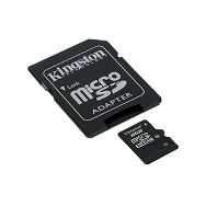 KINGSTON Memory ( flash cards ) 8GB Micro SDHC Class 10, Plastic, 1pcs with SD adapter