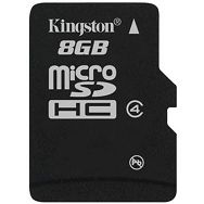 KINGSTON Memory ( flash cards ) 8GB SDC4 Micro SDHC, Plastic, 1pcs