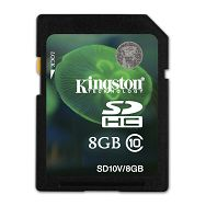 Kingston SDHC Class 10 Flash Card, 8GB
