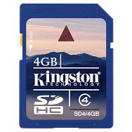 Kingston SDHC, Class4, 4GB