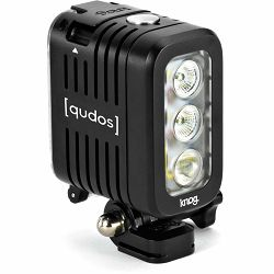 Knog Qudos action video light for GoPro Sony or any action camera with GoPro mount, DSLR Black