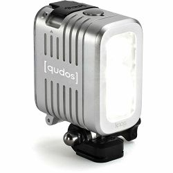 Knog Qudos action video light for GoPro Sony or any action camera with GoPro mount, DSLR Silver