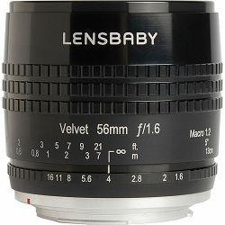 Lensbaby Velvet 56mm f/1.6 macro 1:2 portretni objektiv za Sony A mount (LBV56BS)