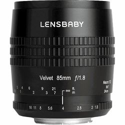 Lensbaby Velvet 85mm f/1.8 macro 1:2 portretni objektiv za Fujifilm Fuji X mount (LBV85F)