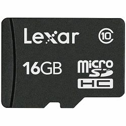 Lexar microSDHC 16GB Class 10 memorijska kartica bez adaptera LSDMI16GABEUC10