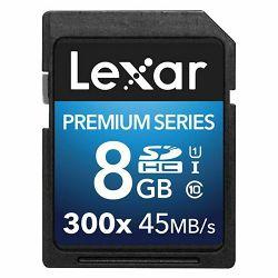 Lexar SDHC 8GB 300x 45MB/s Premium II Class 10 UHS-I Card memorijska kartica LSD8GBBBEU300