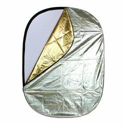 Linkstar dosvjetljivač 5u1 bijeli zlatni srebrni crni FR-140190B 140x190 cm