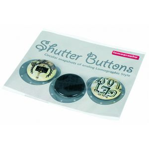 Lomography Button Set 3 *b/w smile* Z503