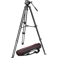Manfrotto MVK500AM Fluid Drag Video Head with MVT502AM Tripod and Carry Bag - video stalak s fluidnom glavom 500 TWIN Alu Leg System NORD