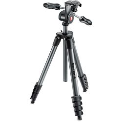 Manfrotto Compact Advanced MKCOMPACTADV-BK 165cm 3kg Black crni tripod aluminijski stativ s 3-way glavom