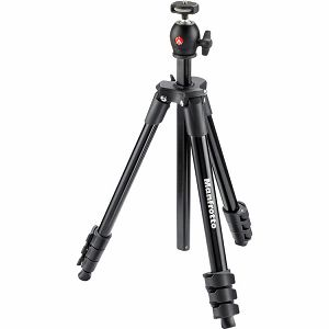 Manfrotto Compact Light Black MKCOMPACTLT-BK stativ za fotoaparat Aluminum Tripod Social Recorder