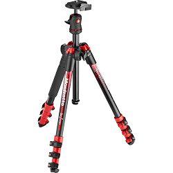Manfrotto MKBFRA4RD-BH Befree 144cm 4kg Red crveni aluminijski stativ s MKBFRA4-BH kuglastom glavom