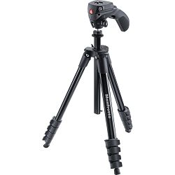 Manfrotto MKCOMPACTACN-BK 155cm 1.5kg Compact Action Aluminum Tripod with grip head crni stativ s glavom
