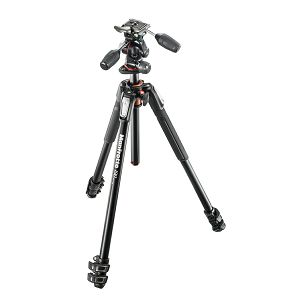 Manfrotto MT190XPRO3 Aluminum Tripod with 804RC2 3-Way Pan/Tilt Head Deluxe Kit