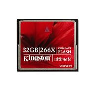 Memory ( flash cards ) KINGSTON CompactFlash Ultimate 266X NAND Flash Compact Flash 32GB 266x, Plastic, 1pcs