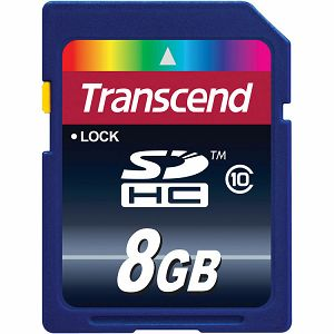 Memory ( flash cards ) TRANSCEND NAND Flash Micro SDHC 8GB Class 10, Plastic, 1pcs with SDHC adapter