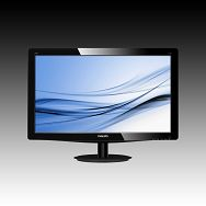 Monitor LED PHILIPS 196V3LSB (18.5, 1366x768, 1000:1, 10000000:1(DCR), 170/160, 5ms, VGA/DVI) Black