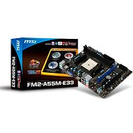 MSI Main Board Desktop AMD A55 (SFM2,DDR3,SATA II,GLAN,USB,VGA,HDMI) mATX Box