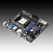 MSI Main Board Desktop  AMD A75 (Socket FM1, DDR3, PS/2,VGA,USB2.0,LAN,Audio Interface,SATA III,DVI,USB3.0) mATX Retail