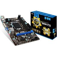 MSI Main Board Desktop iB85 (S1150, DDR3, SATA II,SATA III,PS/2,USB2.0,USB3.0,LAN,Audio Line-In,Audio Line-Out,Microphone-In,DVI,VGA) mATX Retail
