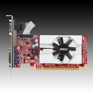 MSI Video Card GeForce GT 610 GDDR3 1GB/64bit, 810MHz/1334MHz, PCI-E 2.0 x16,HDMI,DVI, VGA Cooler, Retail
