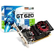 MSI Video Card GeForce GT 620 DDR3 2GB/64bit, 700MHz/1000MHz, PCI-E 2.0 x16, HDCP, HDMI, DVI, VGA, Retail