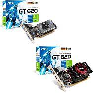 MSI Video Card GeForce GT 620 DDR3 1GB/64bit, 700MHz/1000MHz, PCI-E 2.0 x16, HDCP, HDMI, DVI, VGA, Retail