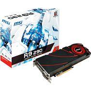 MSI Video Card Radeon R9 290 GDDR5 4GB/512bit, 947MHz/5000MHz, PCI-E 3.0 x16, miniDP, HDMI, 2x DVI-D, VGA Cooler (Double Slot), Retail