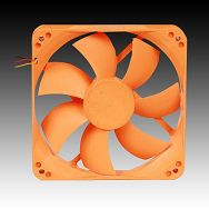 NEXUS System Cooler (fan 12*12*2.5cm,1000RPM,22.8dB,3-pin/4-pin,Sleeve Bearing, Orange)