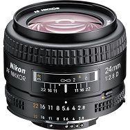 Nikon AF 24mm f/2.8D FX širokokutni objektiv fiksne žarišne duljine Nikkor 24 2.8 f/2.8 prime wide lens (JAA125DA)