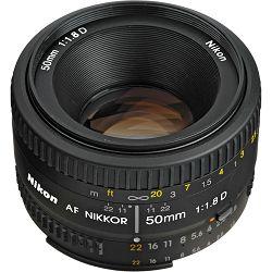 Nikon AF 50mm f/1.8D FX standardni objektiv fiksne žarišne duljine Nikkor auto focus prime lens 50 1.8 D (JAA013DA)