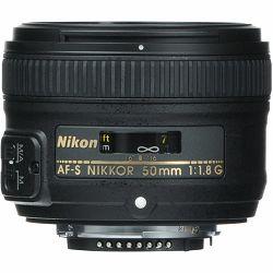 Nikon AF-S 50mm f/1.8G FX standardni objektiv fiksne žarišne duljine Nikkor prime lens auto focus 50 1.8 1.8G F1.8 F1.8G (JAA015DA) - TRENUTNA UŠTEDA