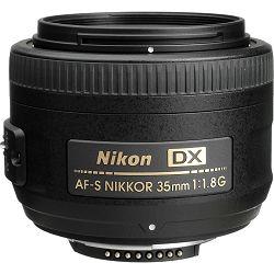 Nikon AF-S 35mm f/1.8G DX širokokutni objektiv fiksne žarišne duljine Nikkor 35 f1.8 G auto focus prime lens (JAA132DA)